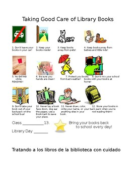 Book Care Tips for Kindergarteners