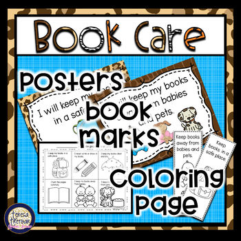 Book Care posters ~ animal print