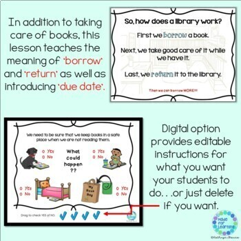 Library Skills: Taking Care of our Library Books...A Powerpoint Lesson