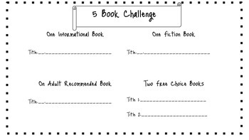 Book Challenge 5-15 books