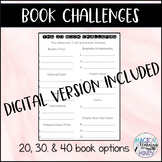 Book Challenge Lists - Options for 20, 30, & 40 books + DI