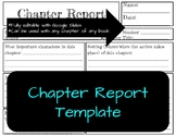 Book Chapter Report Template