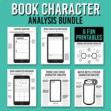 Book Character Analysis Printable Bundle / Reading Compreh