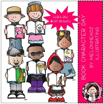 Book Character Day clip art - Mini - Melonheadz Clipart