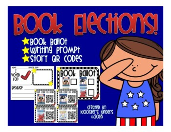 Book Character Election - Book Ballot, QR Codes, and Writing Prompts