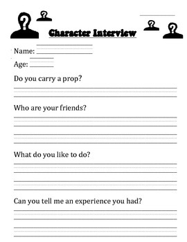 Book Character Interview