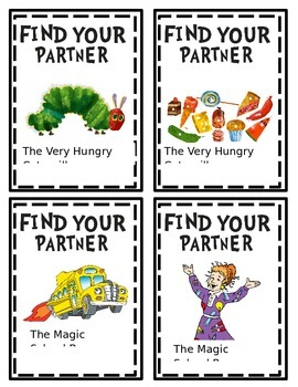 Book Character Partner Picking Cards