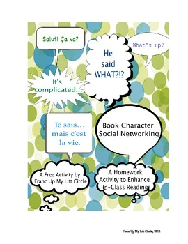 Book Character Social Networking-HS English/Foreign Langauge litturature