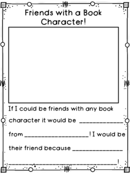 Book Character Writing Prompt