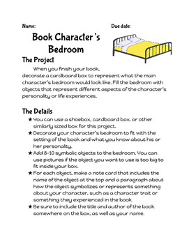 Book Character's Bedroom: Hands-on book review project {ru