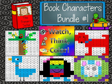 Book Characters Bundle 1 Watch, Think, Color Mystery Pictures - EXPANDING BUNDLE
