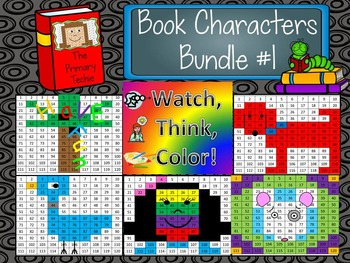 Book Characters Bundle 1 Watch, Think, Color Mystery Pictu