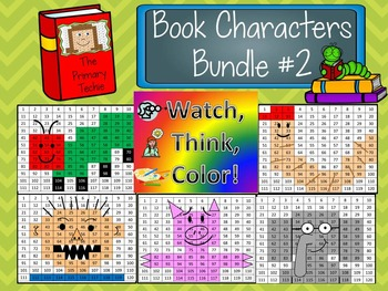 Book Characters Bundle 2 Watch, Think, Color Mystery Pictures - EXPANDING BUNDLE