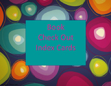 Book Check Out Index Cards Freebie
