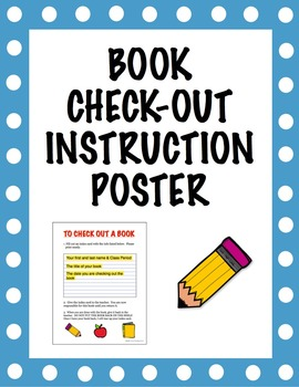 Book Check-Out Instruction Poster and System for Classroom Library