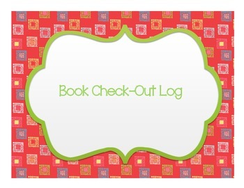 FREEBIE Book Check-Out Log