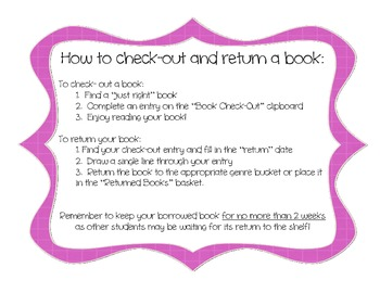 Book Check-Out Procedure, for Classroom Library