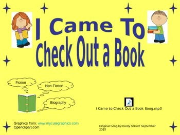 Library Check Out Song (and activities)