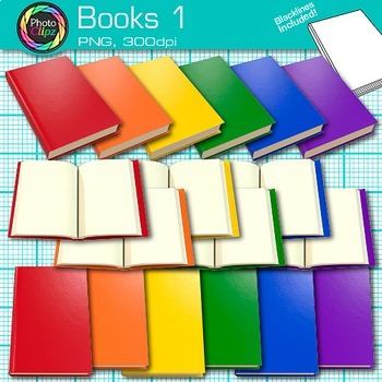 Reading Books Clip Art {Back to School Supplies Photo Grap