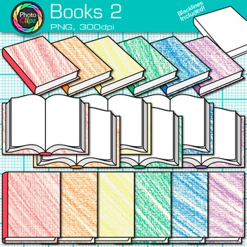 School Books Clip Art {Back to School Supplies for Classroom Resources} 2