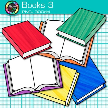 School Books Clip Art {Back to School Supplies for Classroom Resources} 3