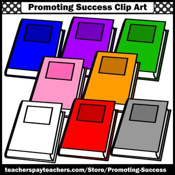 Back to School Book Clipart Commercial Use SPS