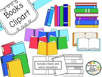 Book Clipart Set: Personal and Commercial Use