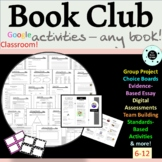 Book Club Activities - ANY NOVEL - Literature Circles - Great for End of Year!