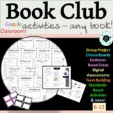Book Club Activities ANY NOVEL - Literature Circles - Novel Study - Distance