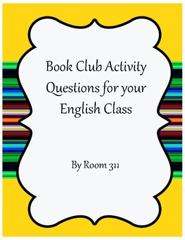 Book Club Activities for your English Class
