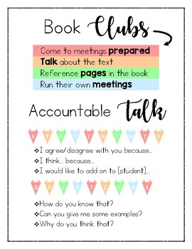 Book Club Anchor Chart