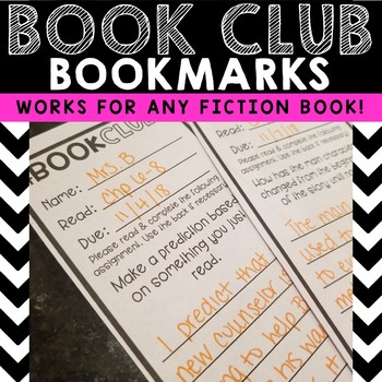 Book Club Assignment Bookmarks