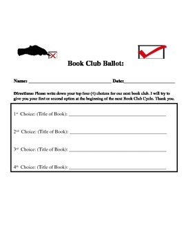 Book Club Ballot