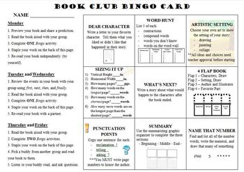 Book Club Bingo - Narrative
