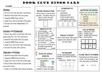 Book Club Bingo - Narrative