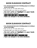 Book Club Book Contracts