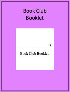 Book Club Booklet