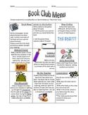 Book Club Choice Menu