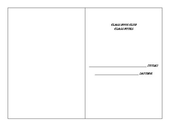 Book Club Class Notes Template
