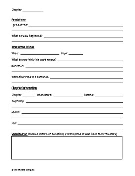Book Club Comprehension Packet