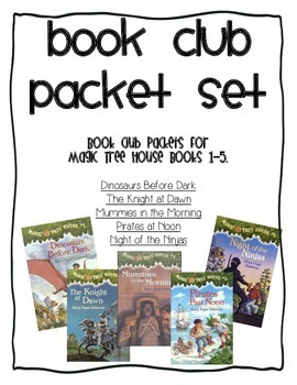 Book Club Comprehension Packet Set for Magic Tree House Books 1-5