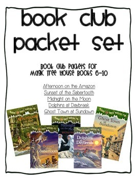 Book Club Comprehension Packet Set for Magic Tree House Books 6-10