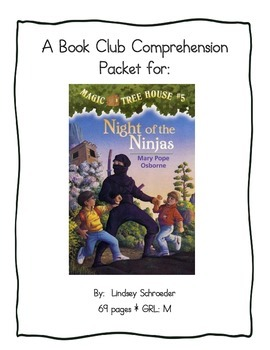 Book Club Comprehension Packet for Magic Tree House #5 Night of the Ninjas