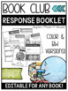 Book Club Comprehension Response Booklet - EDITABLE (Dot Dudes)