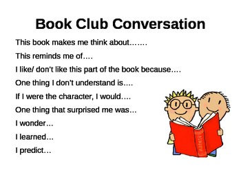 Book Club Conversation Mini-Poster