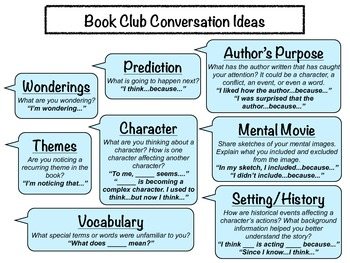 Book Club Conversation Topic Ideas