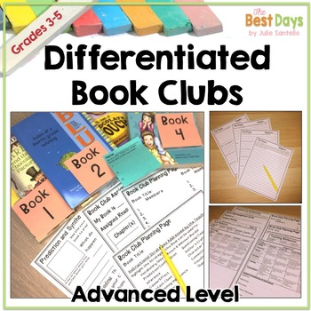 Book Club:  Differentiated Book Clubs for Third Grade, Fourth Grade, Fifth Grade