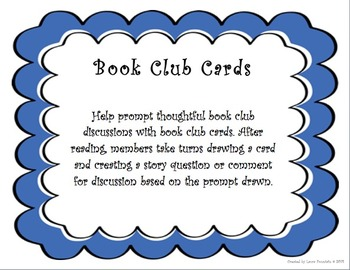 Book Club Discussion Cards for Fiction Books
