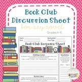 Book Club Discussion Sheet