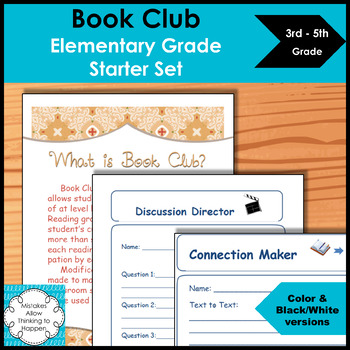Book Club Elementary Grades Starter Set By Mistakes Allow Thinking